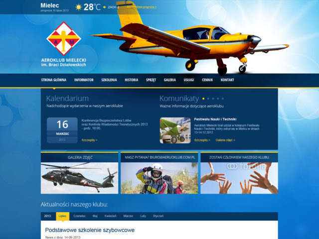 aeroklub mielec strona internetowa