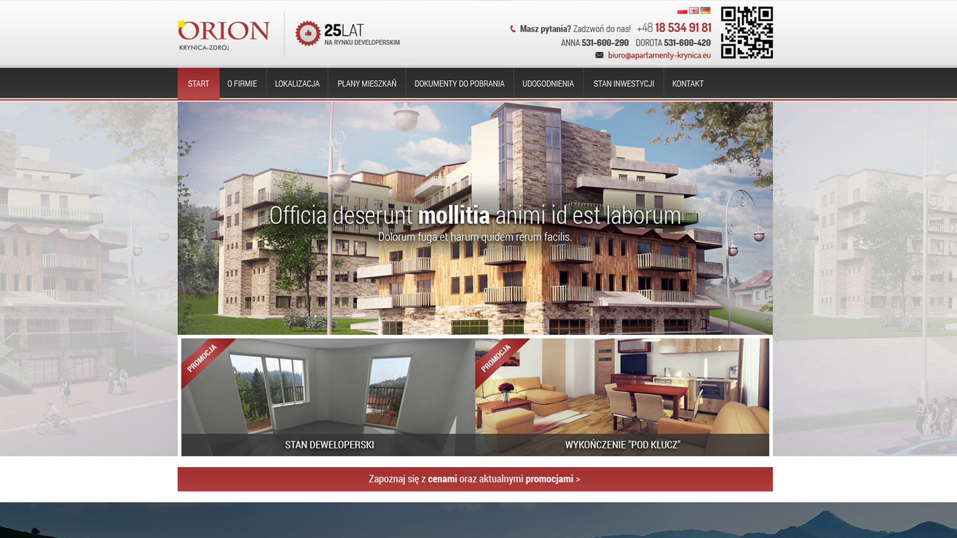 apartamenty orion strona internetowa
