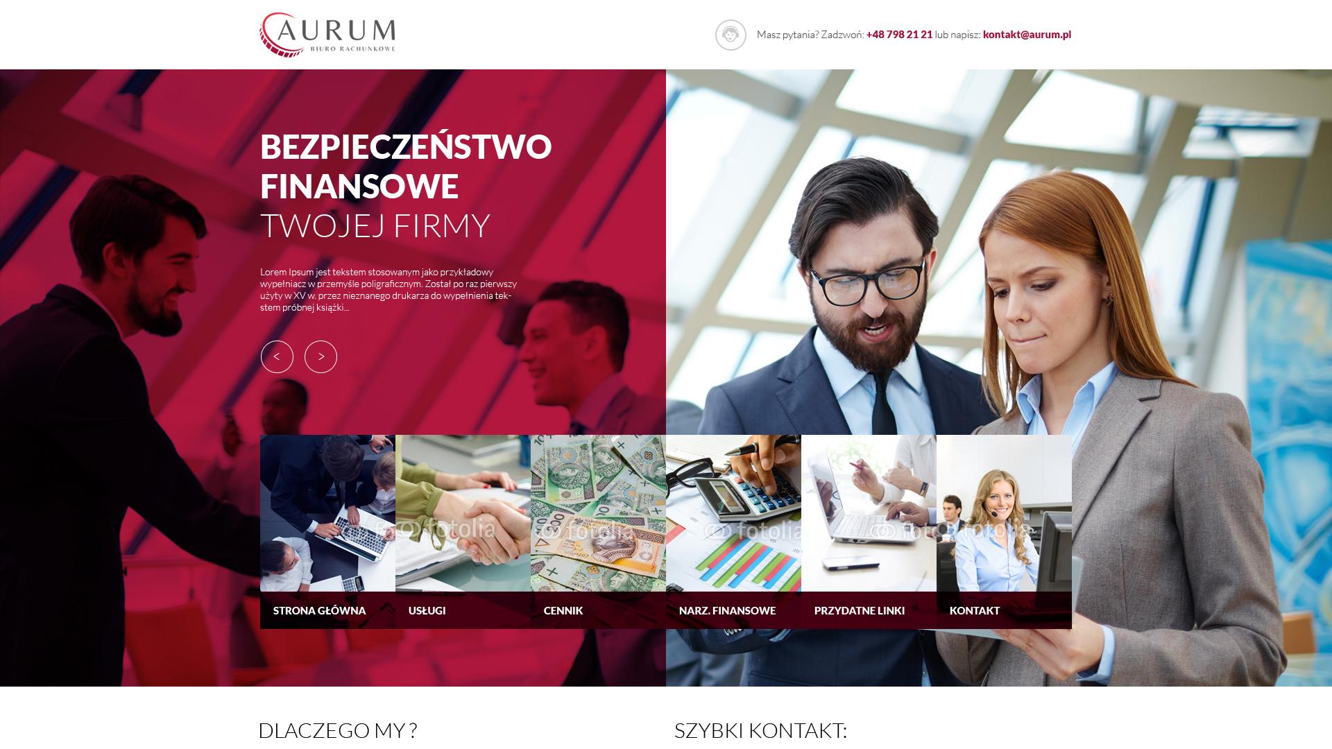 aurum biuro strona internetowa